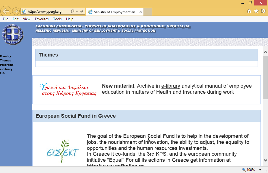 Print only the frame of the text The goal of the European Social Fund....  and only the 1st page to the default printer.